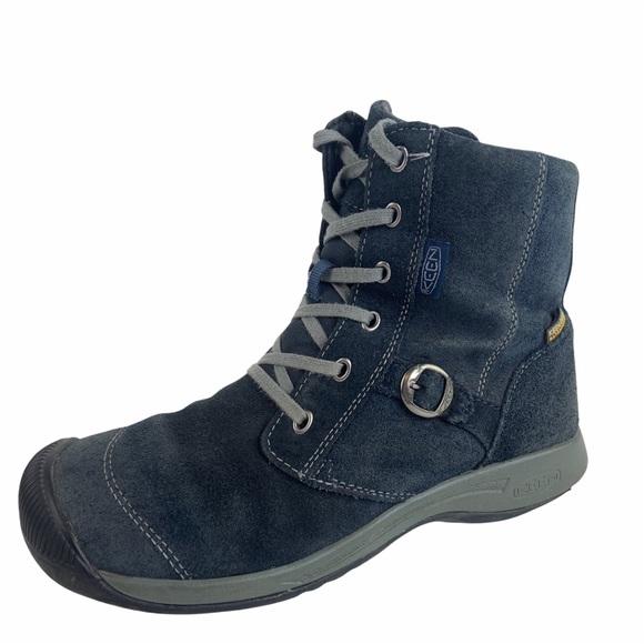 Keen Waterproof Reisen Zip Boots Blue Suede